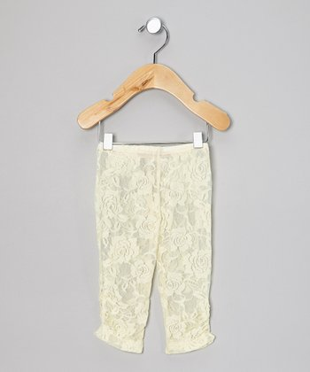 Cream Lace Leggings - Infant & Toddler