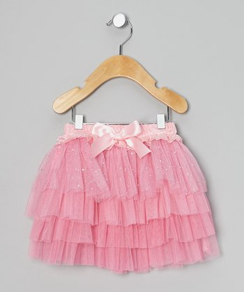 Pink Foil Glitter Tutu - Infant & Toddler