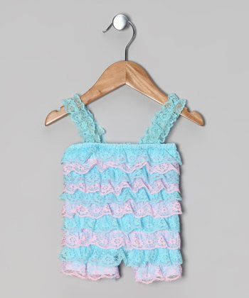 Blue & Pink Ruffle Romper - Infant & Toddler