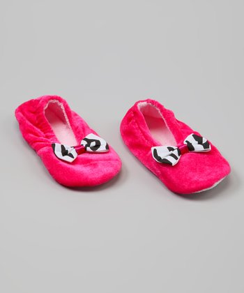 Pink Zebra Slipper - Infant & Toddler