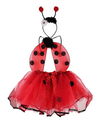 Red & Black Ladybug Tutu Set