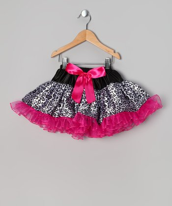 Pink & Black Leopard Pettiskirt - Infant & Toddler