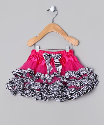 Pink & White Zebra Pettiskirt - Infant & Girls