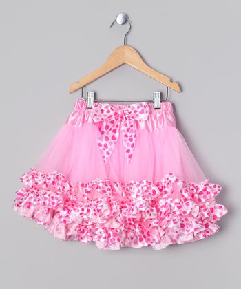 Pink & Red Heart Tutu - Infant & Girls
