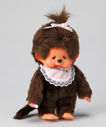Pink Bib Japanese Version Monchhichi Plush Toy