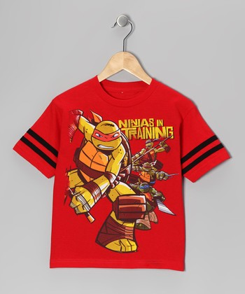 Red TMNT 'Ninjas in Training' Tee - Boys
