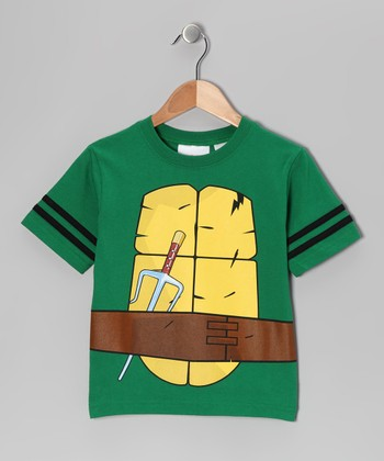 Green TMNT Chest Tee - Kids