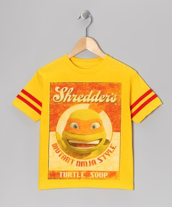 Yellow TMNT 'Turtle Soup' Tee - Kids