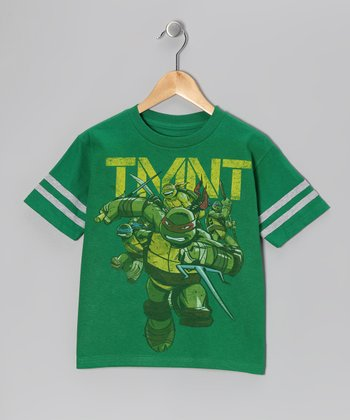 Green 'TMNT' Fighting Tee - Boys