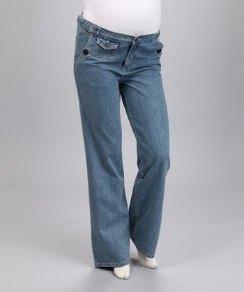 Denim Maternity Straight-Leg Jeans
