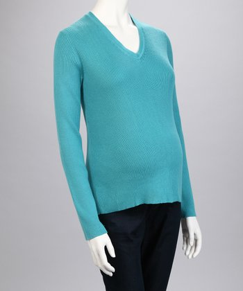 Blue Maternity Sweater