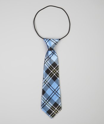 Blue & Black Plaid Tie
