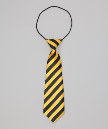 Gold & Black Stripe Tie