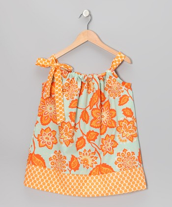 Amber Flower Swing Dress - Toddler