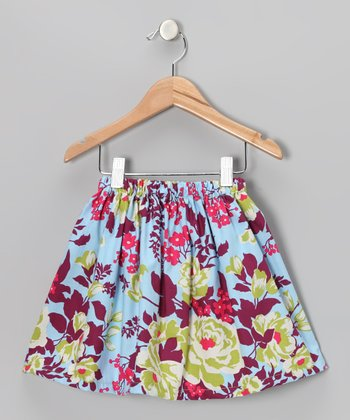 Purple Bouquet Skirt - Toddler & Girls