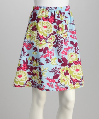 Purple Bouquet Skirt - Women