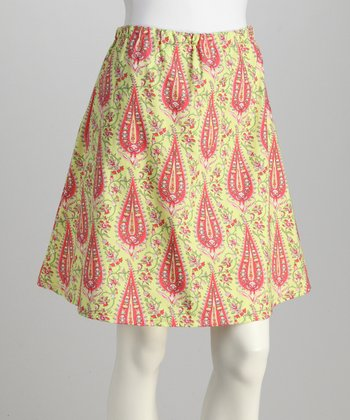 Pink Paisley Skirt - Women