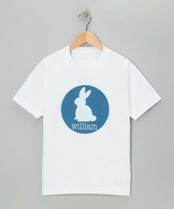 Blue Stitch Bunny Personalized Tee - Infant, Toddler & Boys