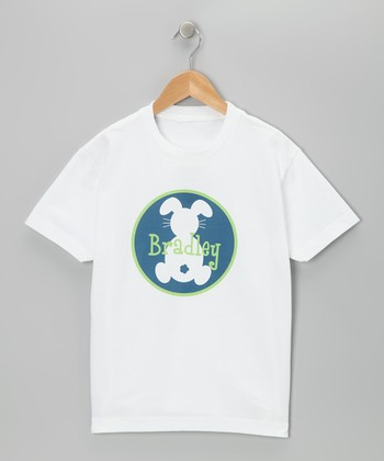 Blue Bunny Boy Personalized Tee - Infant, Toddler & Boys