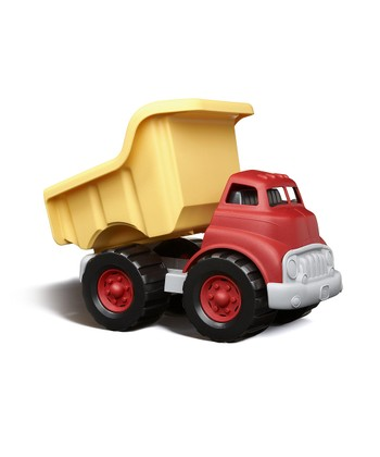 Red & Yellow Recycled Dump Truck