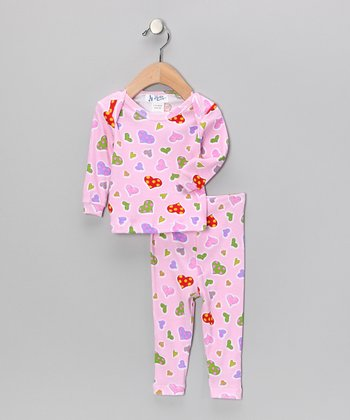 Pink Heart Pajama Set - Infant