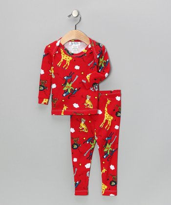 Red Zoo Pajama Set - Infant