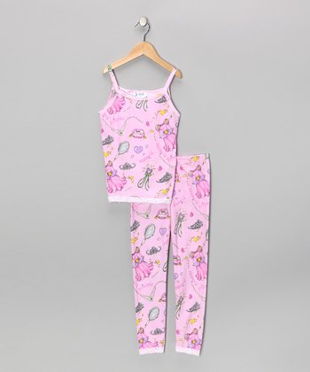 Pink Princess Pajama Set - Girls