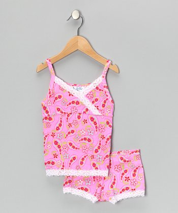 Pink Paisley Pajama Set - Girls