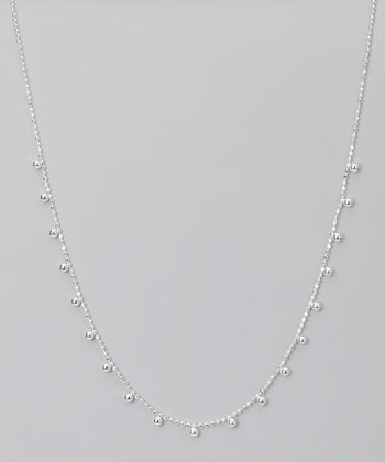Sterling Silver Alternating Bead Necklace