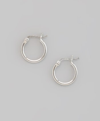 Sterling Silver Shiny Huggie Earrings
