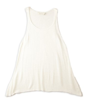 Natural Sidetail Sweater Tank