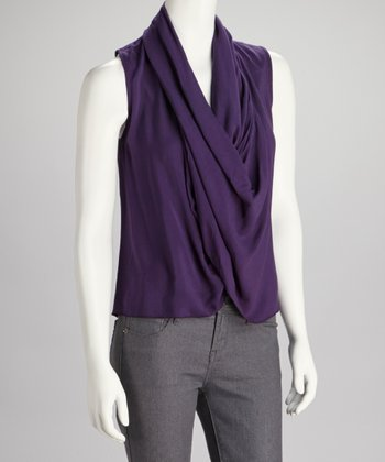 Purple Drape Top