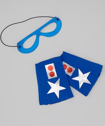 Blue & White Star Cuffs & Mask