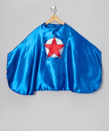 Blue & Red Circle Star Cape