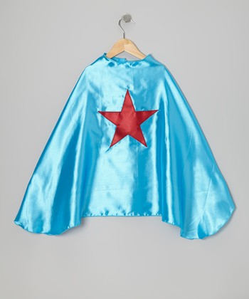 Ocean Blue & Red Star Cape
