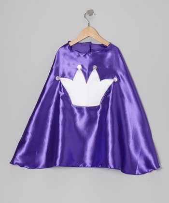 Purple & White Crown Cape