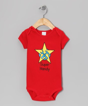 Red 'Super Handy' Bodysuit - Infant