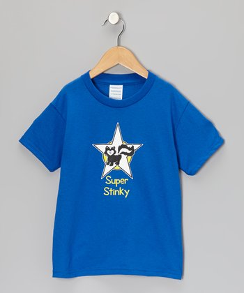 Blue 'Super Stinky' Short-Sleeve Tee - Toddler & Kids