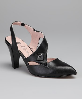 Black Phoenix Leather Slingback