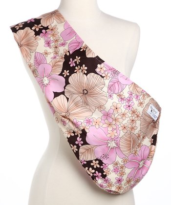 Pink & Brown Hibiscus Padded Sling