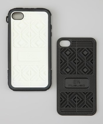 Black & White Sneaker Case for iPhone 4S