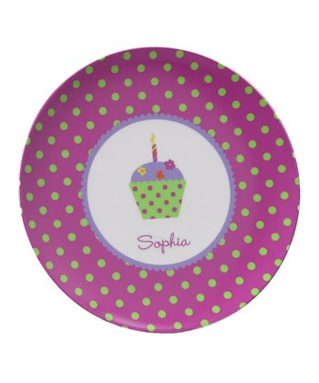 Purple Cupcake Personalized Plate