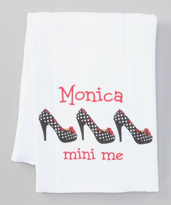 White 'Mini Me' Personalized Burp Cloth