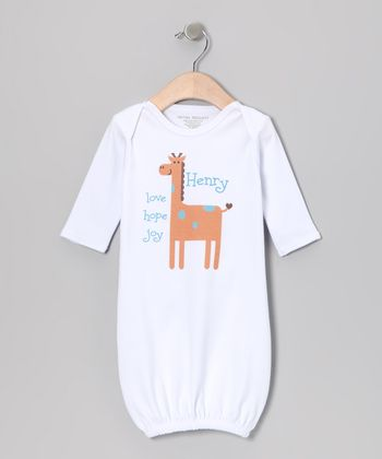 White 'Love, Hope, Joy' Personalized Gown - Infant