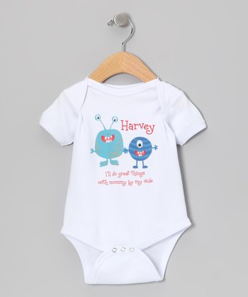 White 'By My Side' Personalized Bodysuit - Infant