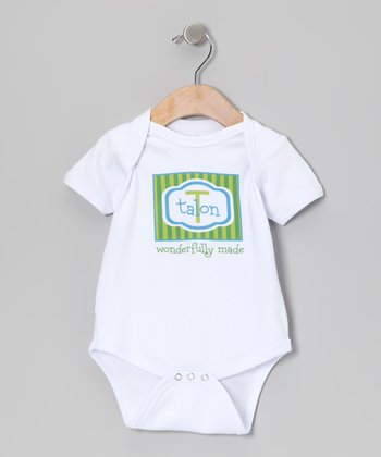 Green & Blue 'Wonderfully Made' Personalized Bodysuit - Infant