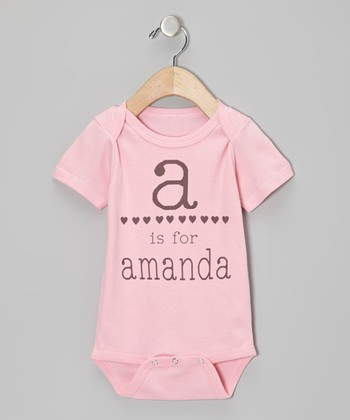 Pink Hearts Personalized Bodysuit - Infant