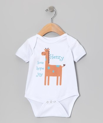 White 'Love, Hope, Joy' Personalized Bodysuit - Infant