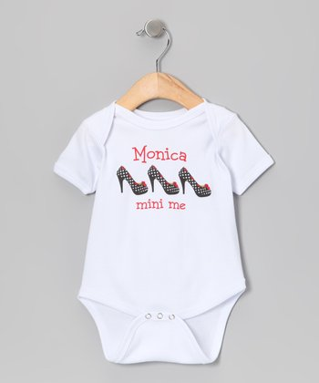 White 'Mini Me' Personalized Bodysuit - Infant