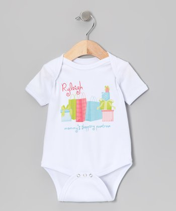 White 'Shopping Partner' Personalized Bodysuit - Infant